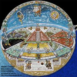 Alam semesta menurut suku Maya. Kredit : edwardtbabinski.us