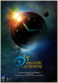 Poster 100 Jam Astronomi.