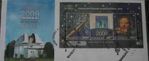 Seri Prangko Tahun Astronomi Internasional di Indonesia.  Kredit : Nggieng