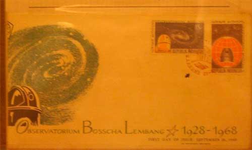 Seri prangko perayaan 40 tahun Observatorium Bosscha. Kredit : Nggieng