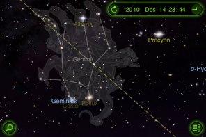 Hujan Meteor Geminid akan tampak muncul dari rasi Gemini. kredit : StarWalk