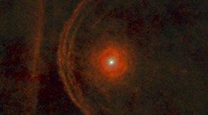 Betelgeuse. Kredit: ESA/Herschel/PACS/Decin et al. 2012