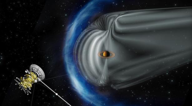 Bow-shock Saturnus. Kredit: ESA