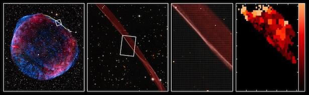 Sisa supernova yang menjadi petunjuk asal usul sinar kosmik. Kredit: ESO
