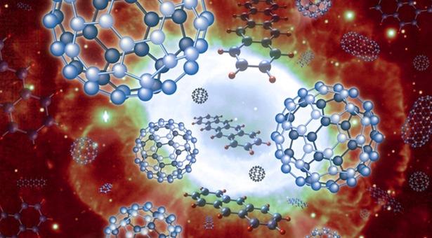 Molekul molekul karbon. Kredit : NAOJ