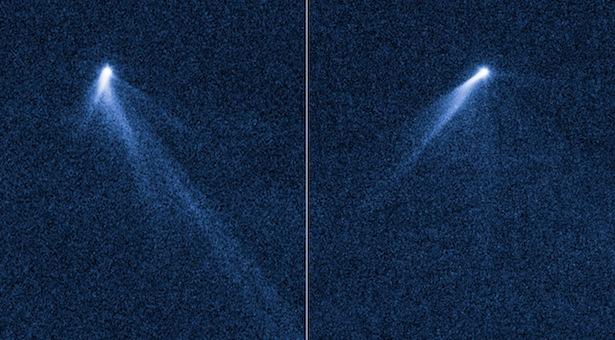 Komet yang ternyata hanyalah asteroid. Kredit: NASA, ESA, D. Jewitt (University of California, Los Angeles), J. Agarwal (Max Planck Institute for Solar System Research), H. Weaver (Johns Hopkins University Applied Physics Laboratory), M. Mutchler (STScI), dan S. Larson (University of Arizona)