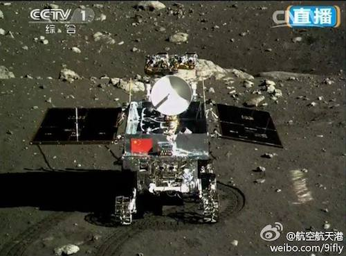 Rover Yutu si Kelinci yang dopotret Chang'e 3. Kredit: China Space