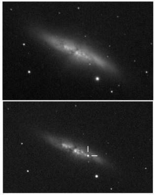 Supernova di M82 Kredit: UCL/University of London Observatory/Steve Fossey/Ben Cooke/Guy Pollack/Matthew Wilde/Thomas Wright
