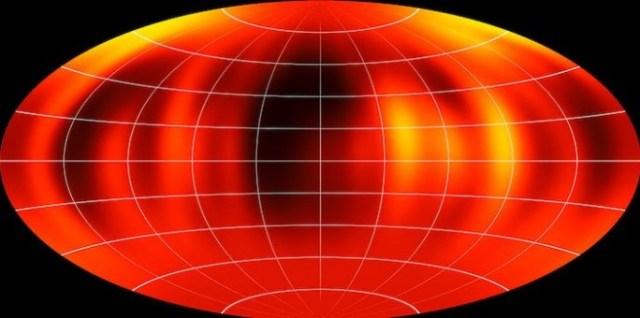 Peta permukaan Luhman 16B. Kredit: ESO/I. Crossfield