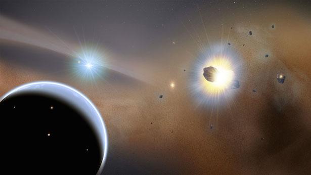 Ilustrasi sistem di Beta Pictoris. Kredit: NASA Goddard Space Flight Center/F. Reddy