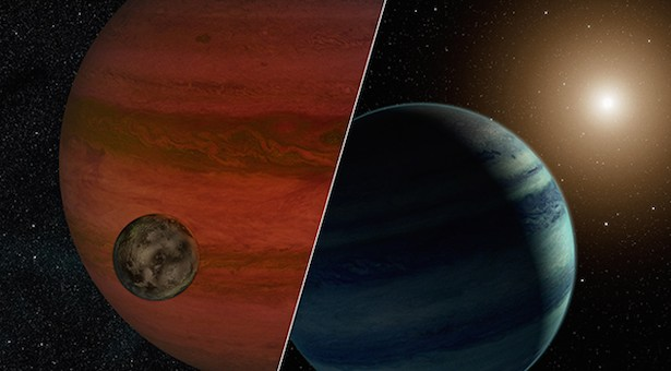 Bulan atau planet? Kredit: NASA