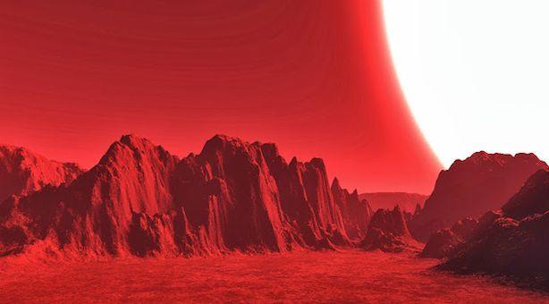 Ilustrasi bintang maharaksasa merah. Kredit: Scott Cornett