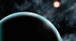 Ilustrasi Kepler-421b yang mengitari bintang induk dari kejauhan. Kredit: David A. Aguilar (CfA)