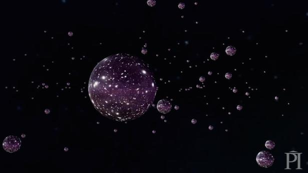 Gelembung-gelembung semesta dalam multisemesta. Kredit: Perimeter Institute