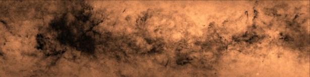 Peta belahan utara galaksi Bima Sakti dengan lebih dari 200 milyar bintang. Kredit: Hywel Farnhill, University of Hertfordshire