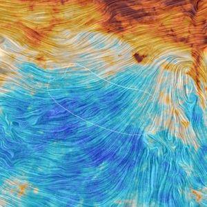 Area pengamatan BICEP2 yang dilihat Planck. Kredit: Planck/ESA