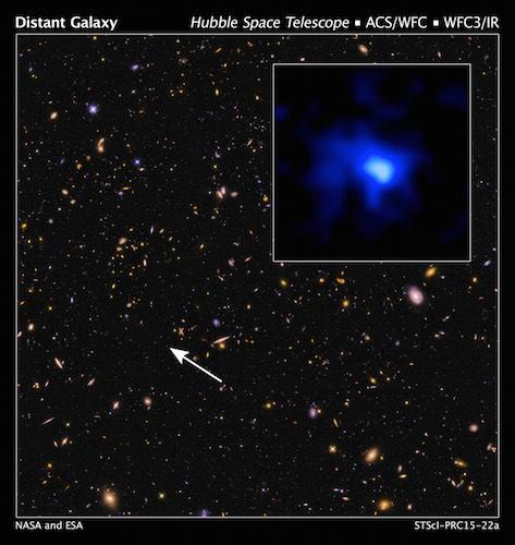 Hubble mematahkan rekor jarak galaksi terjauh