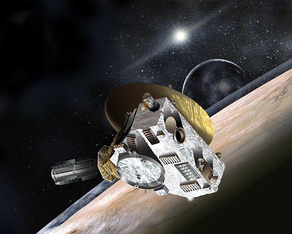 Ilustrasi ketika New Horizons tiba di Pluto. Kredit: Johns Hopkins University Applied Physics Laboratory/Southwest Research Institute