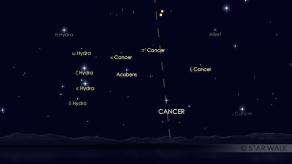 Venus & Jupiter tanggal 30 Juni 2015. Kredit: Star Walk