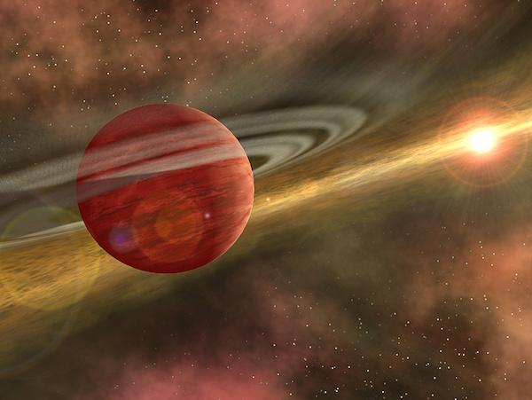 Ilustrasi planet Jupiter panas. Kredit: Robert Hurt/NASA/ JPL.