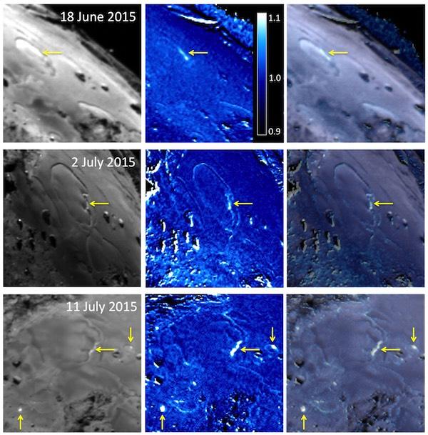 Foto berwarna dari pemrukaan komet 67P/Churyumov-Gerasimenko. Kredit: ESA/Rosetta/MPS for OSIRIS Team MPS/UPD/LAM/IAA/SSO/INTA/UPM/DASP/IDA