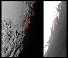 Efek senja yang terbentuk di Pluto. Kredit: NASA/Johns Hopkins University Applied Physics Laboratory/Southwest Research Institute