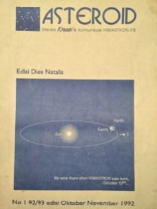 "Buletin ""Asteroid"" yang terbit Oktober 1992. Kredit: Himastron."