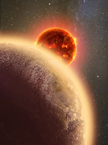Ilustrasi exoplanet GJ 1132b. Kredit: CfA