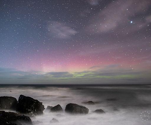 Aurora yang tampak di langit Selandia Baru. Kredit: Taichi Nakamura