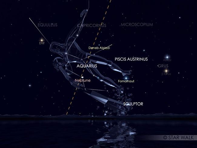Hujan meteor Eta Aquarid. Kredit: Star Walk