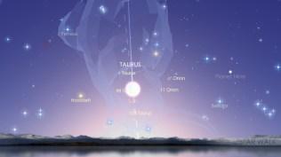 Venus yang hilang di balik cahaya Matahari. Kredit: Star Walk