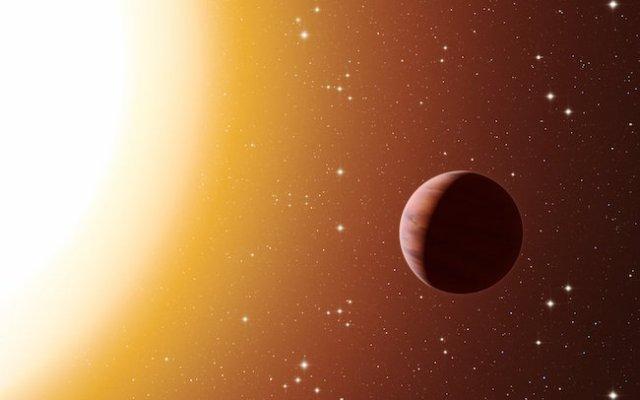 Ilustrasi planet Jupiter panas pada bintang di M67. Kredit: ESO/L. Calçada