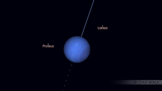Neptunus di bulan Juni. Kredit: Star Walk