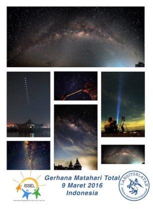 Foto-foto langit malam dari Indonesia. Fotografer: Fikri Maulana, Lukamul Hakim, Mickey Vanda, Muchlas Arkanuddin, Mustofa Ahyar, Ronny Syamara
