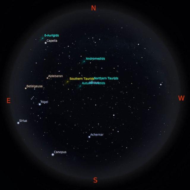 Peta bintang 1 Oktober 2016 pukul 23:59 WIB. Kredit: Stellarium