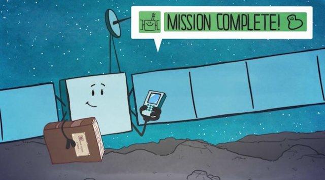 Misi Selesai. Kredit: ESA