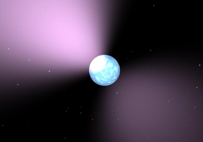 Ilustrasi pulsar