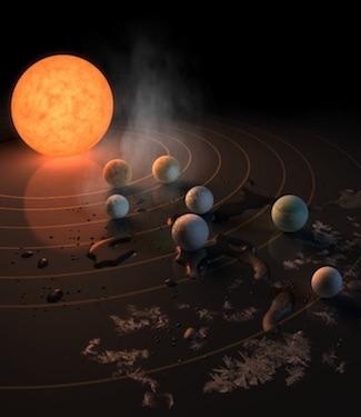 Kisah Bintang Katai Merah Dingin dan 7 Planet Kebumian