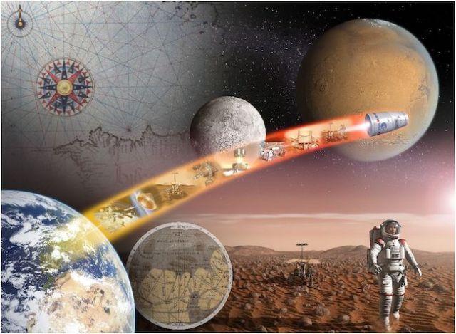 Ilustrasi eksplorasi luar angkasa. Kredit: ESA