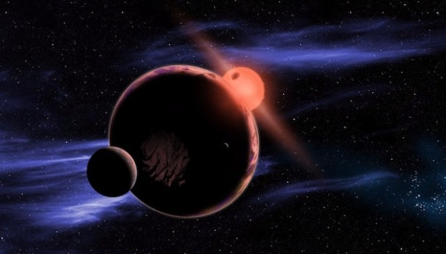Ilustrasi planet laik huni di bintang katai merah. Kredit: D. Aguilar/Harvard-Smithsonian Center for Astrophysics