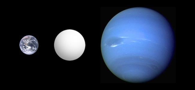Planet di antara Bumi dan Neptunus. Kredit: Aldaron / Wikimedia
