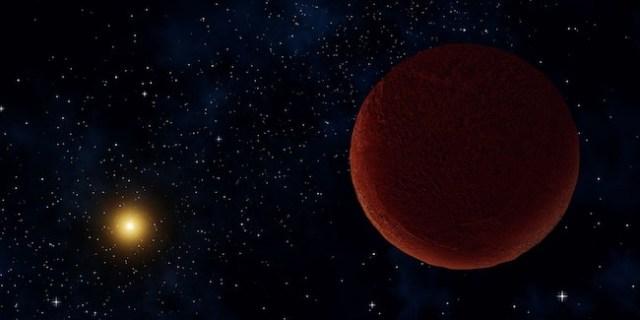 Ilustrasi DeeDee, si planet katai yang baru. Kredit: UNAWE / Alexandra Angelich (NRAO/AUI/NSF)