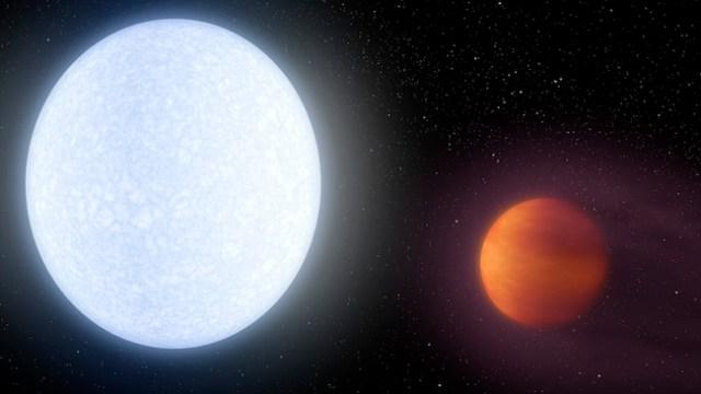 Ilustrasi sistem KELT-9 yang memiliki exoplanet raksasa terpanas. Kredit: NASA/JPL-Caltech