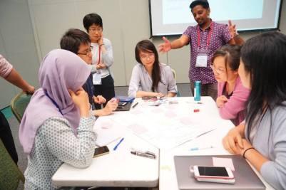 Pelatihan komunikasi sains. Kredit: IAU OAO