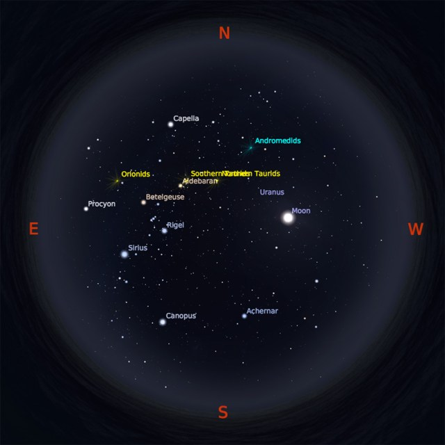 Peta Bintang 1 November 2017 pukul 23:59 WIB. Kredit: Stellarium