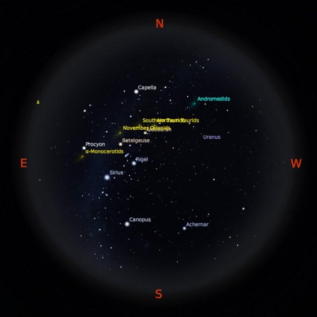 Peta Bintang 15 November 2017 pukul 23:59 WIB. Kredit: Stellarium