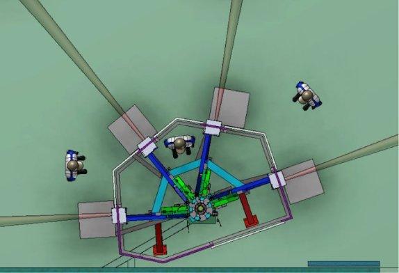 ESPRESSO menggabungkan 4 teleskop VLT. Kredit: ESO/ Konsorsium ESPRESSO