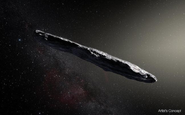 Ilustrasi asteroid Oumumua. Kredit: NASA