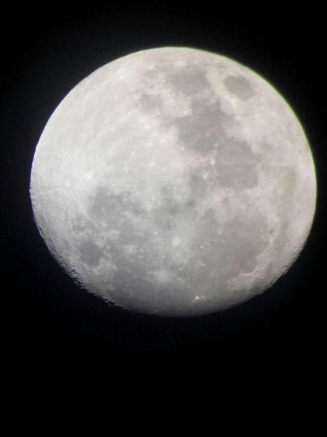 Penampakan Bulan H-2 sebelum GBT. Kredit: Aldino Adry Baskoro
