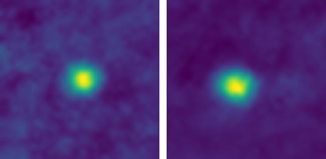 Foto 2012 HZ84 dan 2012 HE85 yang dipotret New Horizons. Kredit: NASA